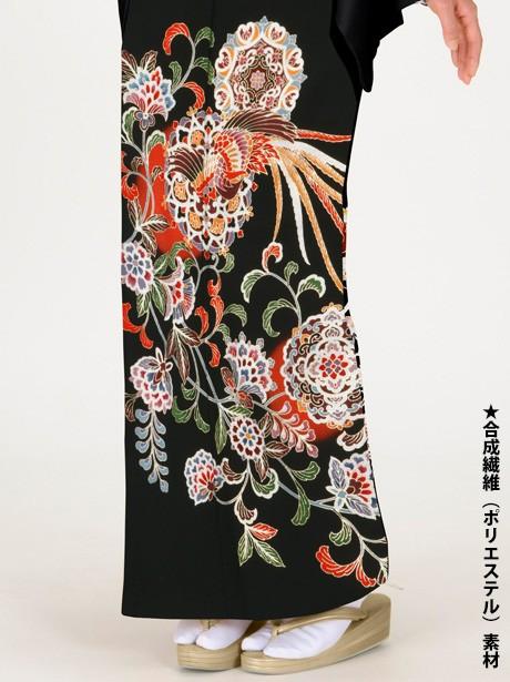 鳳凰と華文の黒留袖