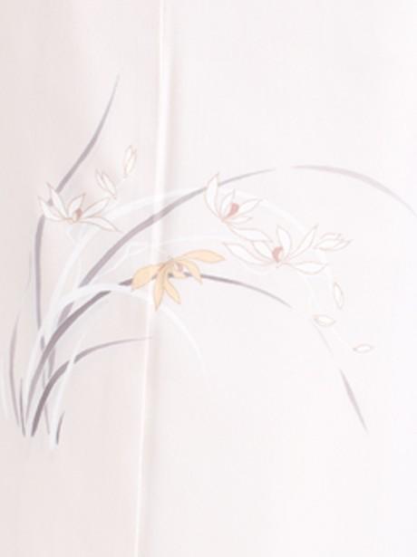 うすたまご色地に洋花文様の付下(袷)