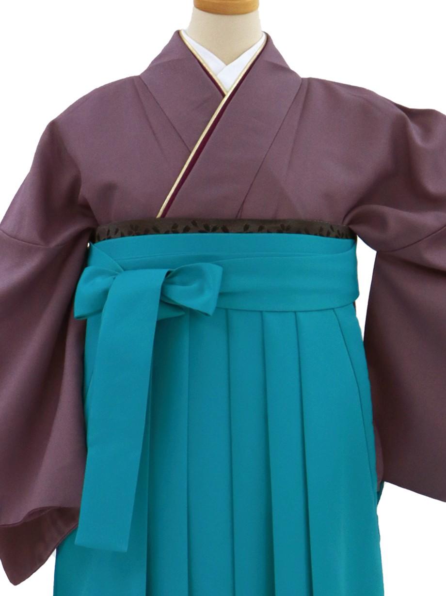 葡萄鼠色の色無地・浅葱袴(無地)/卒業式葡萄鼠色の色無地・浅葱袴(無地)/卒業式