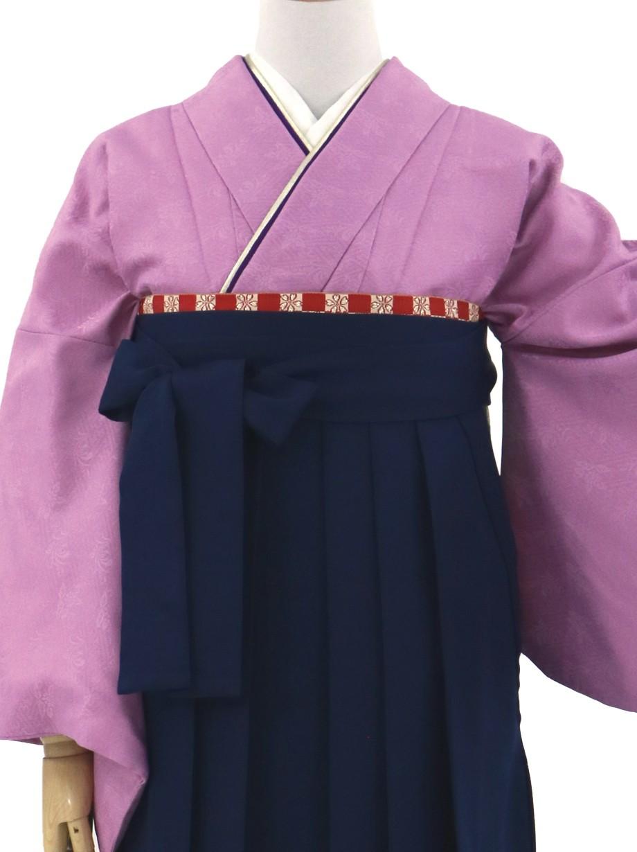 アヤメ色の色無地・紺袴(無地)/卒業式