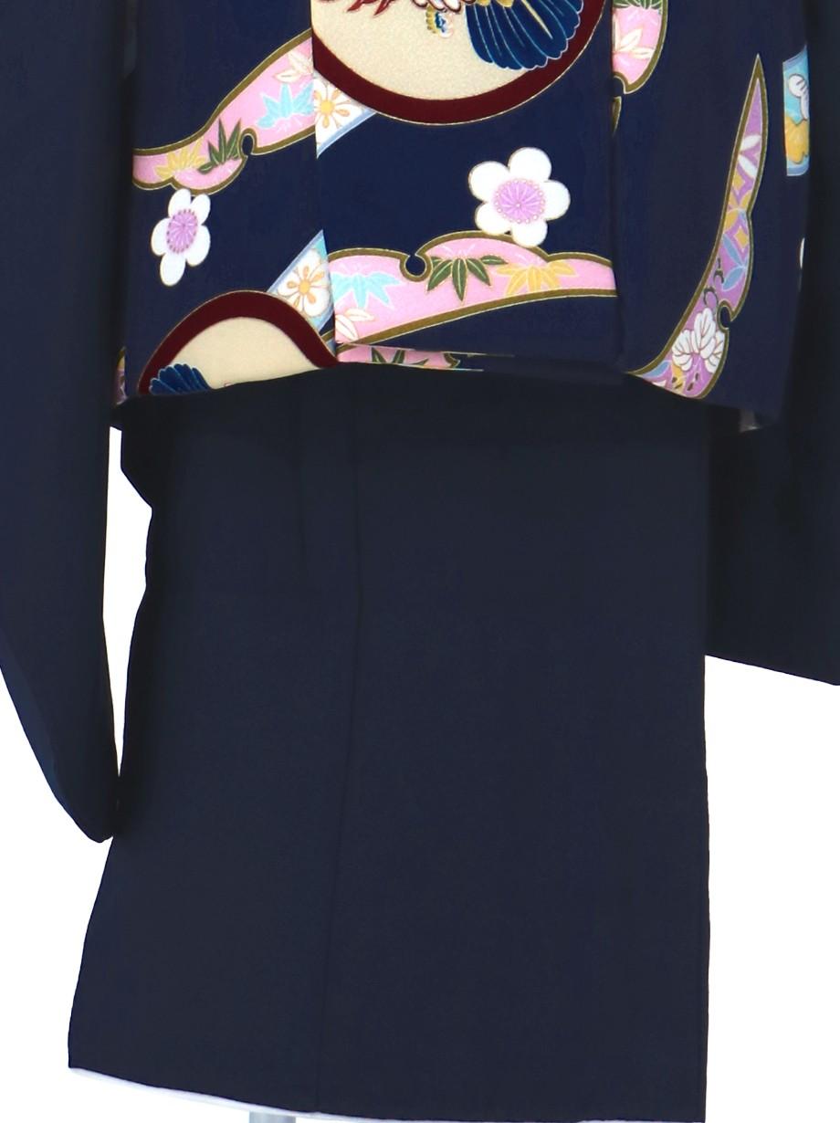 鷹紋の紺の被布コートセット/七五三・三歳男の子・被布コートセット