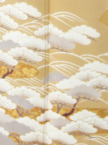 地紙に松の色留袖