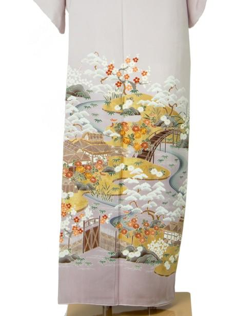 御所解(ごしょどき)風色留袖/小さめサイズ