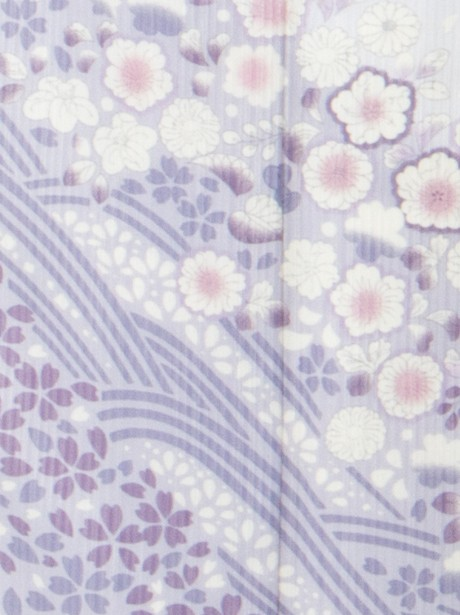 藤色に桜の訪問着(袷)(ポリエステル)