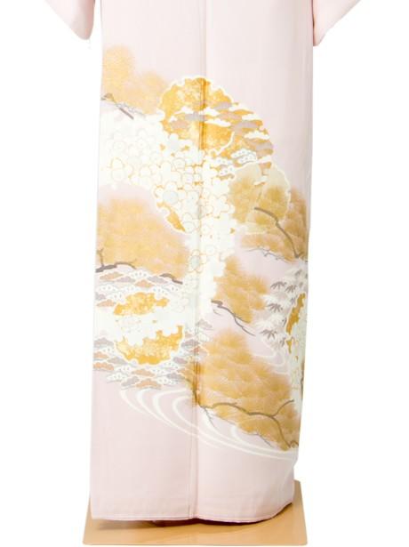 雪輪に松竹梅の色留袖
