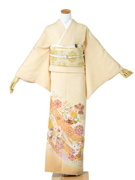 熨斗・花紋の色留袖