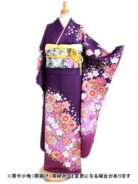 紫地に桜と鞠の振袖