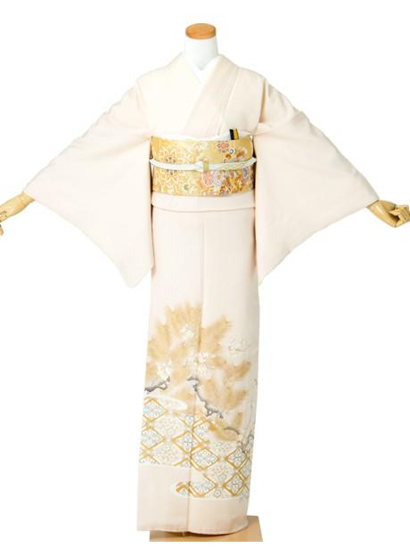 花菱に松と梅の色留袖