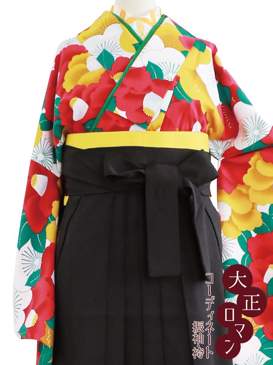 大正ロマンな梅に椿・黒袴/卒業式