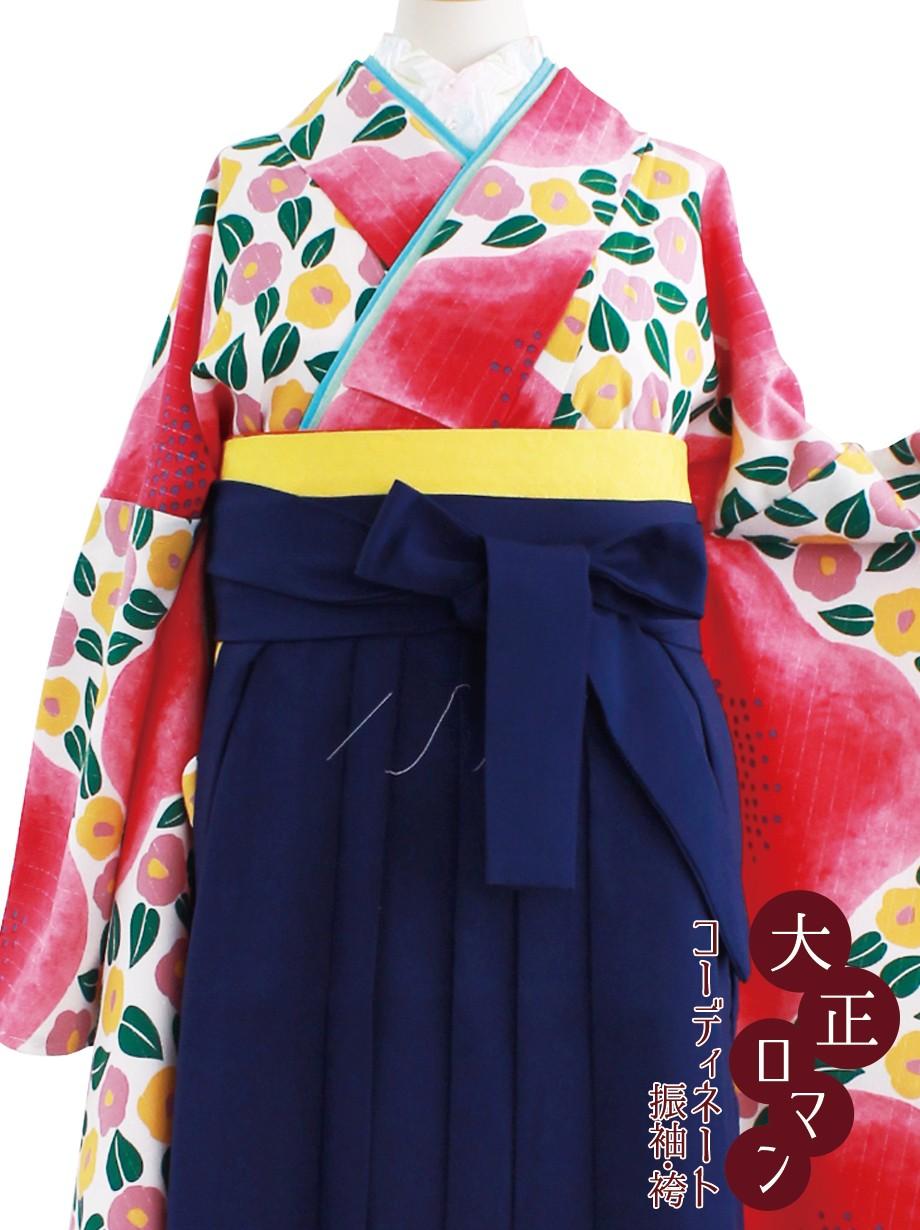 大正ロマンな椿・紺袴/卒業式