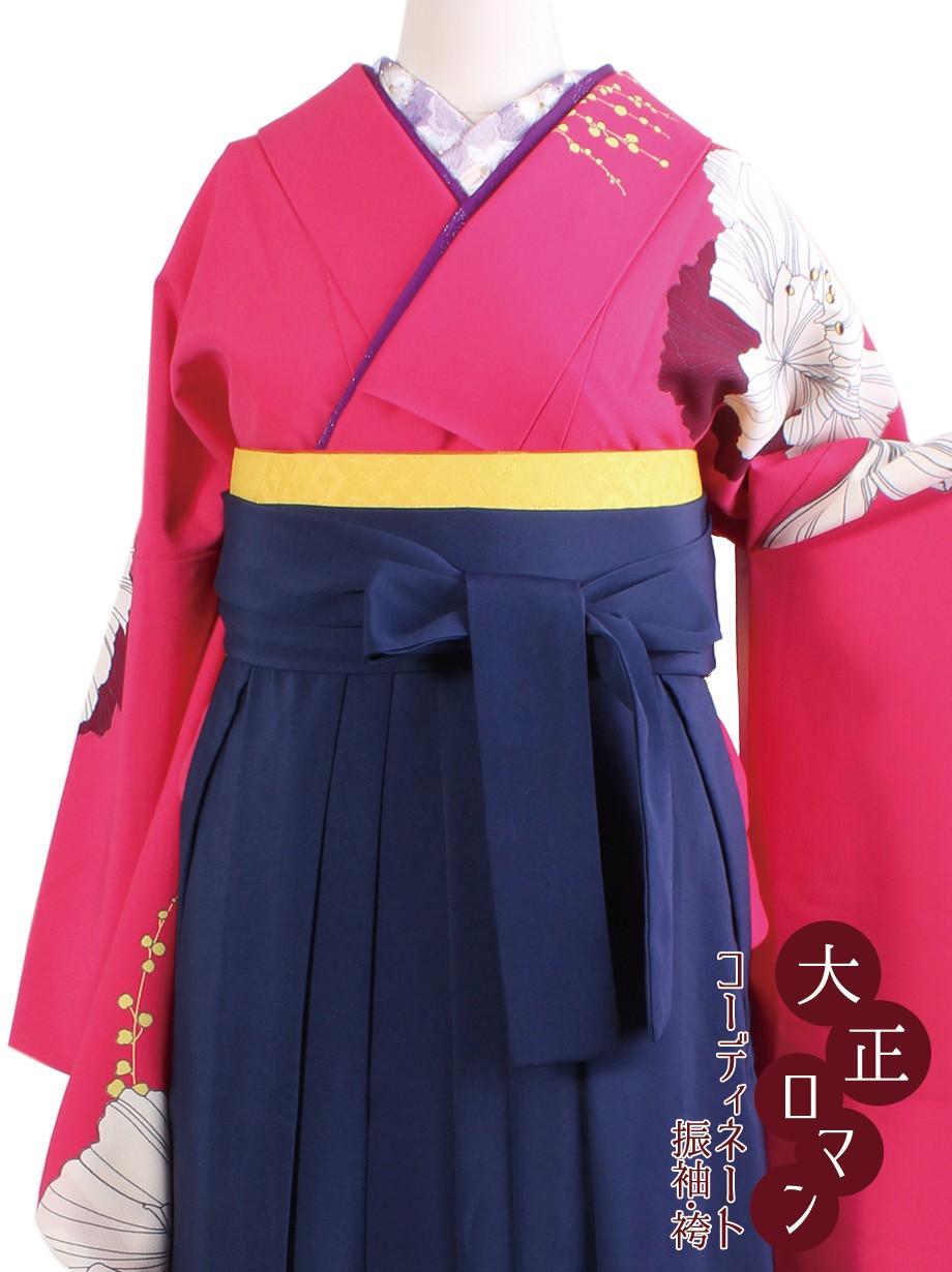 大正ロマンな洋花の振袖・紺袴/卒業式