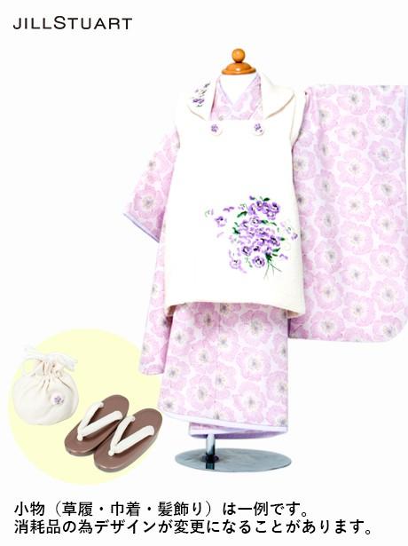 《JILLSTUART》薄紫地に菫の被布コートセット/七五三・三歳女の子