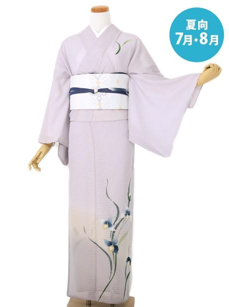 紫色地に菖蒲の訪問着(絽)