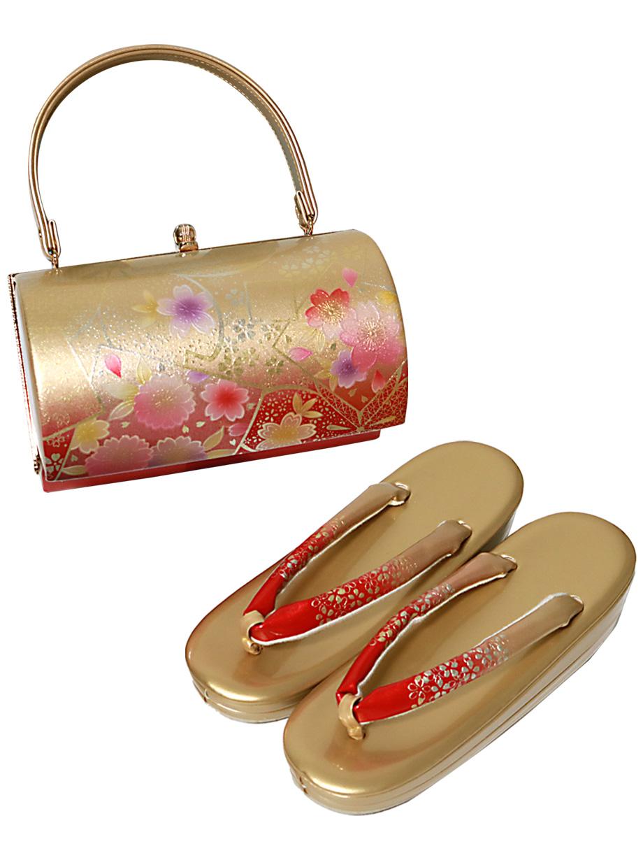 草履バッグセット《ゴールド》(単品)/振袖・卒業式
