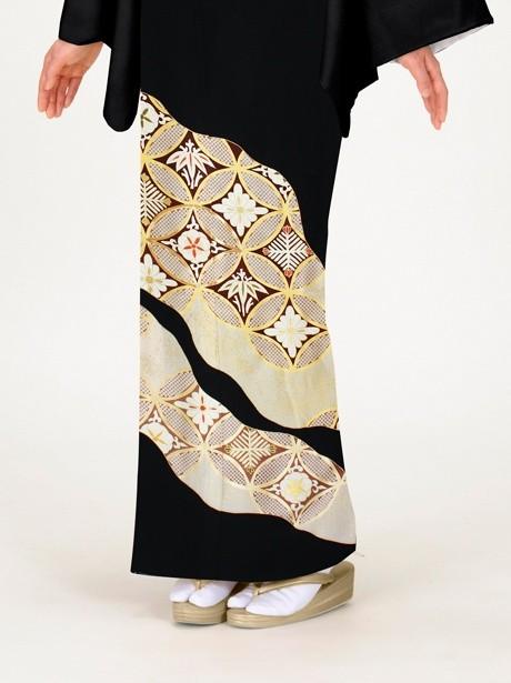 七宝繋ぎ(しっぽうつなぎ)の黒留袖