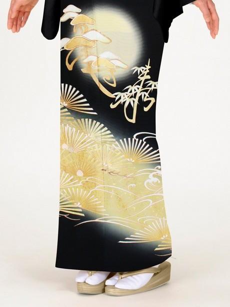 松に寿の黒留袖