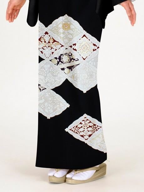 菱文に宝相華(ほうそうげ)の黒留袖