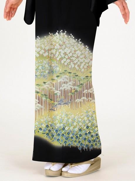 松竹梅の黒留袖