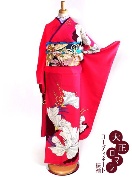 大正ロマンな洋花の振袖