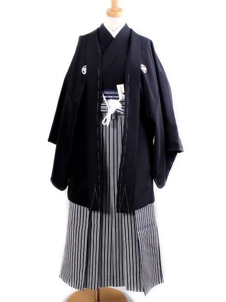 黒紋付・縞袴(小学生)/卒業式